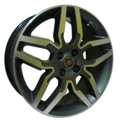 Roda Aro 15 - Replica Original Fiat Idea Sport Grafite Diamantada